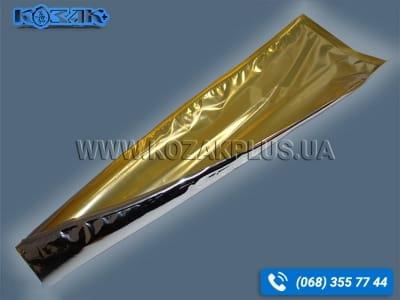 Вакуумний пакет металізований харчовий «золото» 140 х 400 мм