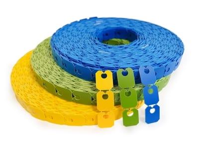 Кліпси для закривання пакетів 27 х 22 х 0,8 мм, кольорові