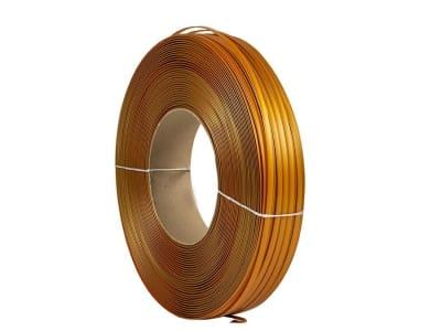 Стрічка кліпсаторна кліпбенд золотава 8мм x 0.6мм x 600м