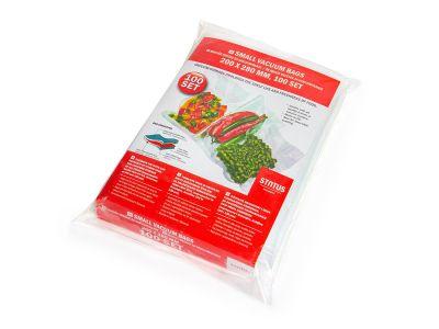 Вакуумний пакет рифлений харчовий Status 200 х 280 мм (преміум, су-вид)