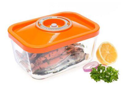 Контейнер вакуумний скляний Status VAC-REC-15 помаранчевий