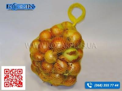 Сетка упаковочная для овощей и фруктов Венус, желтая
