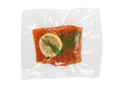 Вакуумний пакет гладкий харчовий 200 х 200 мм (120мкм)