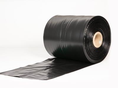 Пленка ПЭ рукав PoliRolls черная 330 мм х 700 м х 50 мкм