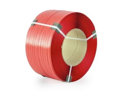 Стрічка поліпропіленова Polistrap 16мм х 0.8мм х 1500м червона (посилена)