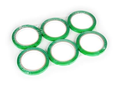 Скотч стрічка для кліпсаторів ПП Superseal 9 мм х 60 м, зелена