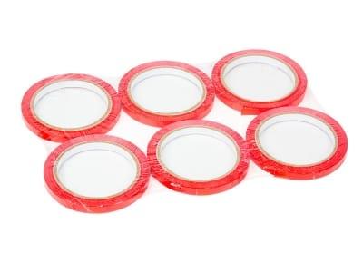Скотч стрічка для кліпсаторів ПП Superseal 9 мм х 60 м, червона