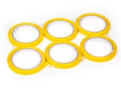 Скотч стрічка для кліпсаторів ПП Superseal 9 мм х 60 м, жовта
