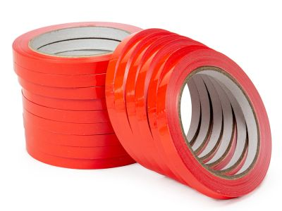 Скотч лента для клипсаторов Superseal 9 мм х 60 м, красная