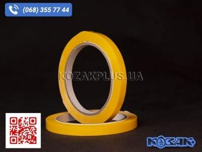 Скотч лента для клипсаторов Superseal 9 мм х 60 м, желтая