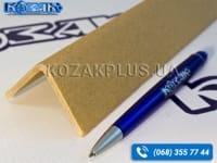 Кутник захисний картонний Г-подібний 35 х 35 x 4 х 2000